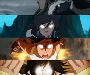 the legend of korra and avatar state image