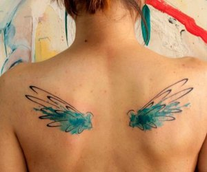 colors, girl, and tatto image