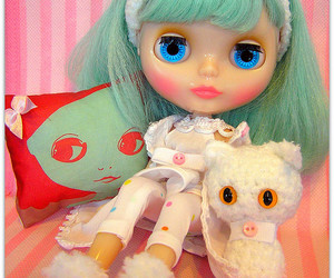 blythe, pillow, and winter image