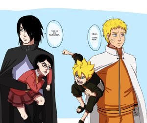 anime, naruto, and sasuke image