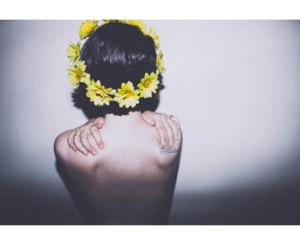 body, flowers, and garland image