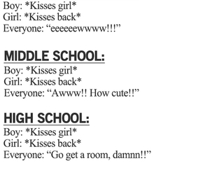kiss, quote, and high school image