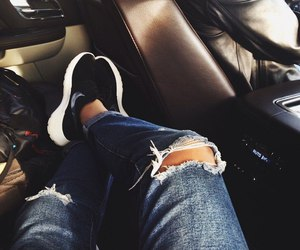 nike, jeans, and roshe run image