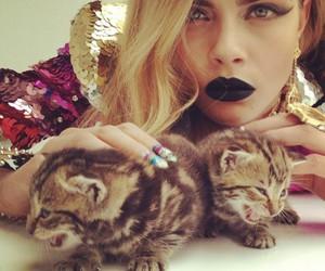 cat, cara delevingne, and model image