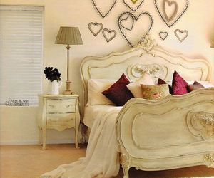 bedroom, heart, and vintage image