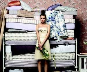 bed, pillows, and girl image
