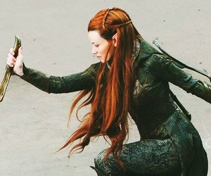 evangeline lilly, hobbit, and tauriel image