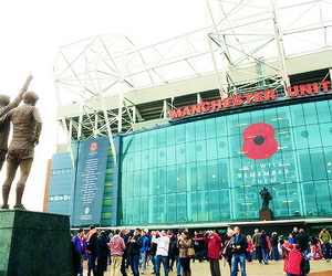 football, manchester united, and old trafford image