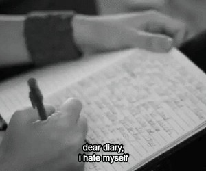 hate, diary, and myself image