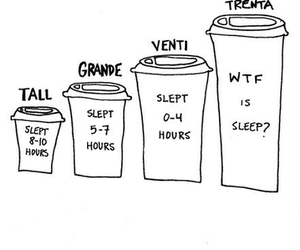 coffee, sleep, and starbucks image