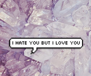 love, crystal, and grunge image