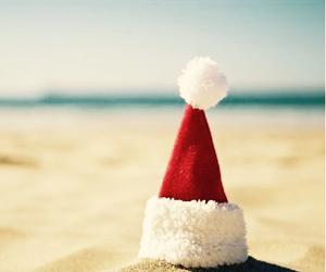 christmas, beach, and sea image