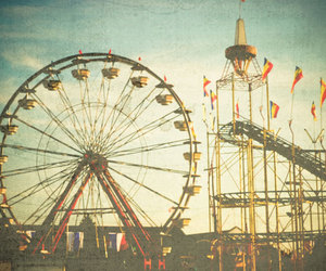 vintage, fun, and park image