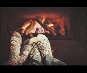 couple, socks, and winter image