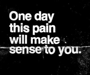 pain, black and white, and quote image