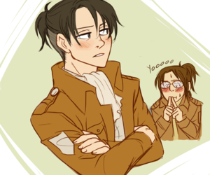 levi, hanji, and rivaille image