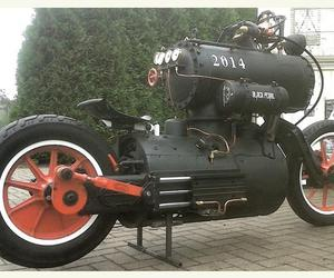 design, motors, and steampunk image