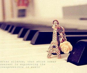 piano, music, and paris image