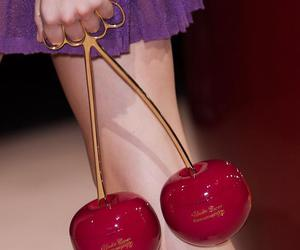 cherry, runway, and fashion image