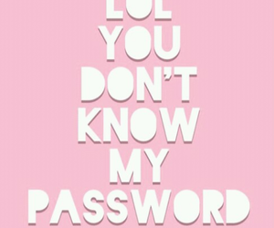 password, lol, and pink image