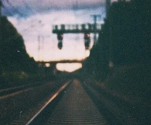 train, vintage, and grunge image
