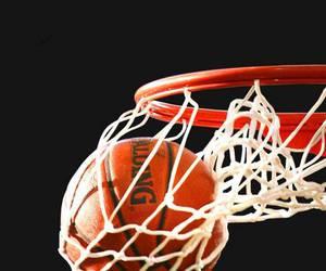 Basketball, ball, and basket image