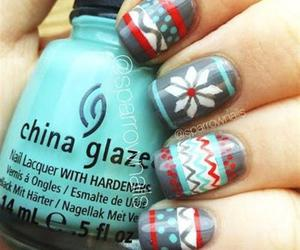 nails, christmas, and blue image