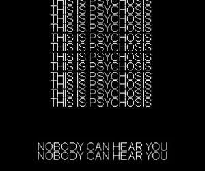black and white and psychosis image