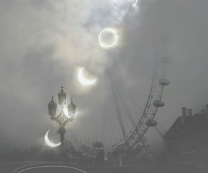 moon, london, and london eye image