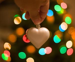 christmas, heart, and light image