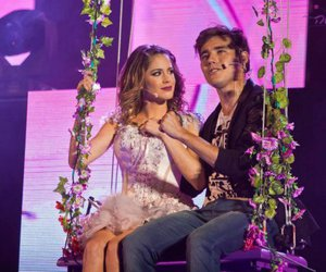 jorge blanco, violetta, and martina stoessel image