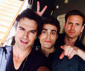 tvd, ian somerhalder, and paul wesley image