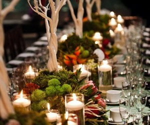 decor, dinner, and holiday image