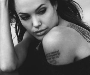 Angelina Jolie, bw, and beautiful image