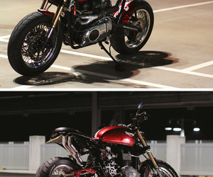 moto, motorcycle, and triumph image
