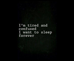 sad, tired, and sleep image