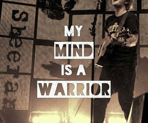 ed sheeran, quote, and warrior image