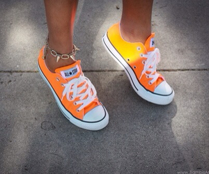 converse, orange, and shoes image