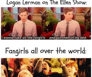 logan lerman and fangirls image