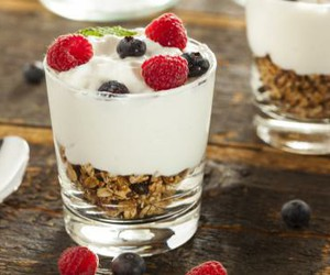 berries, crema, and food image