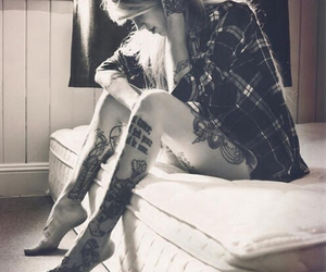 beautiful, tattoo, and vintage image