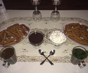 candles, choclate, and spanish image