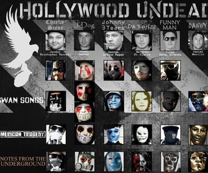 masks, hollywood undead, and hu image