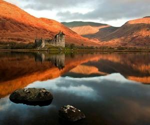 castle, scotland, and autumn image
