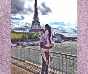 couple, kiss, and paris image