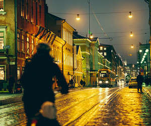 city, evening, and finland image