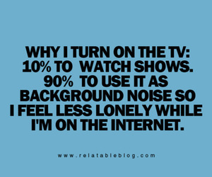 lonely and tv image