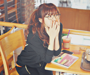 asian, girl, and glasses image