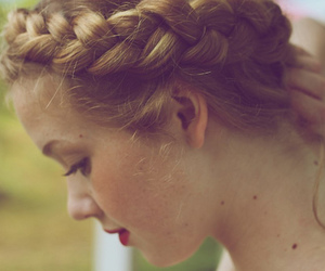 girl, braid, and blonde image