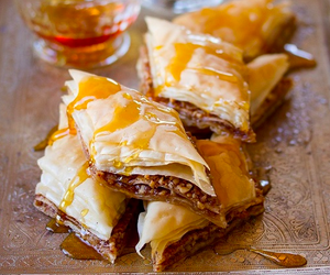 sweet, baklava, and food image